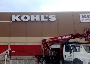 Kohls Channel Ltr Bldg Sign with Truck 2