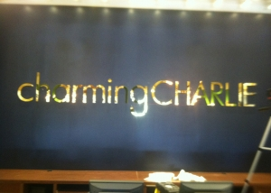 Charming Charlie Cash Wrap Pin Mount Letters
